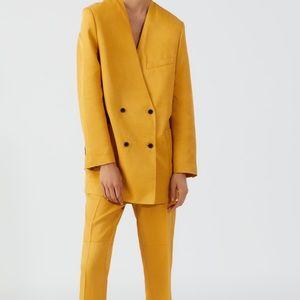 Zara doubled breast blazer with pockets